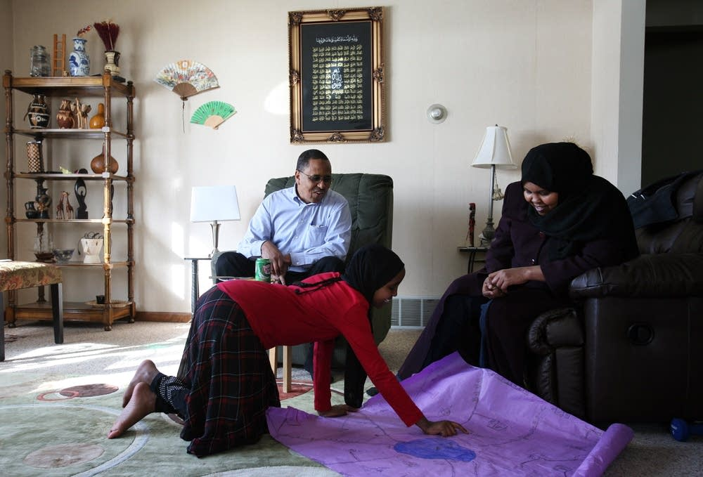 Somali-American family