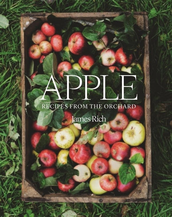 book cover with apples on cover