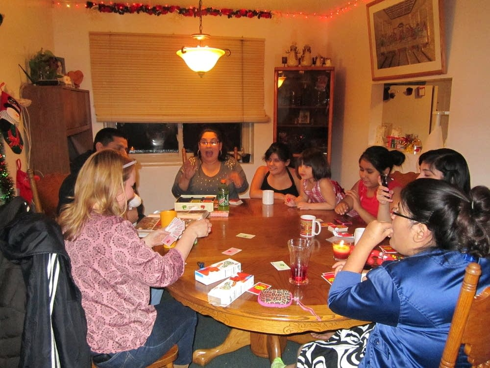 Holiday games at the Rodriguez family home