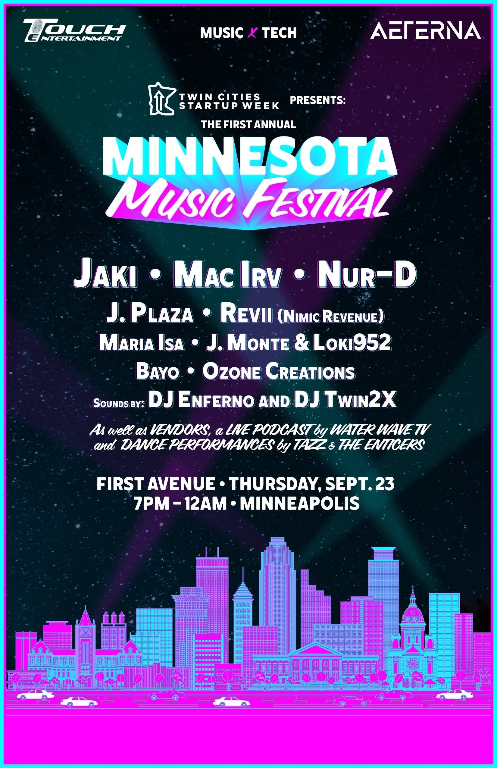 Minnesota Music Festival - startup week