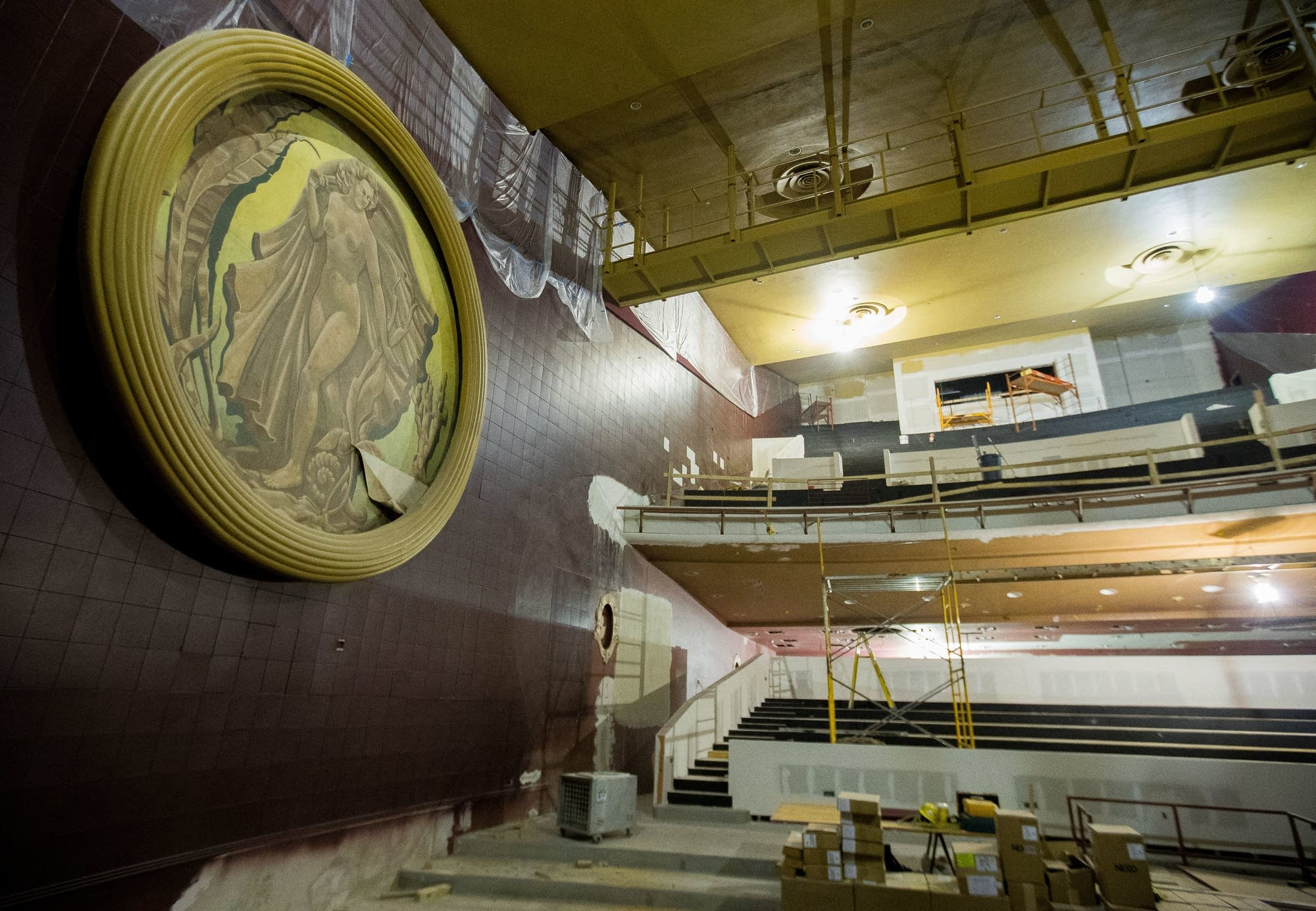 Renovation involves restoration of the building's original elements.