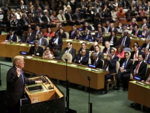 President Trump at the UN