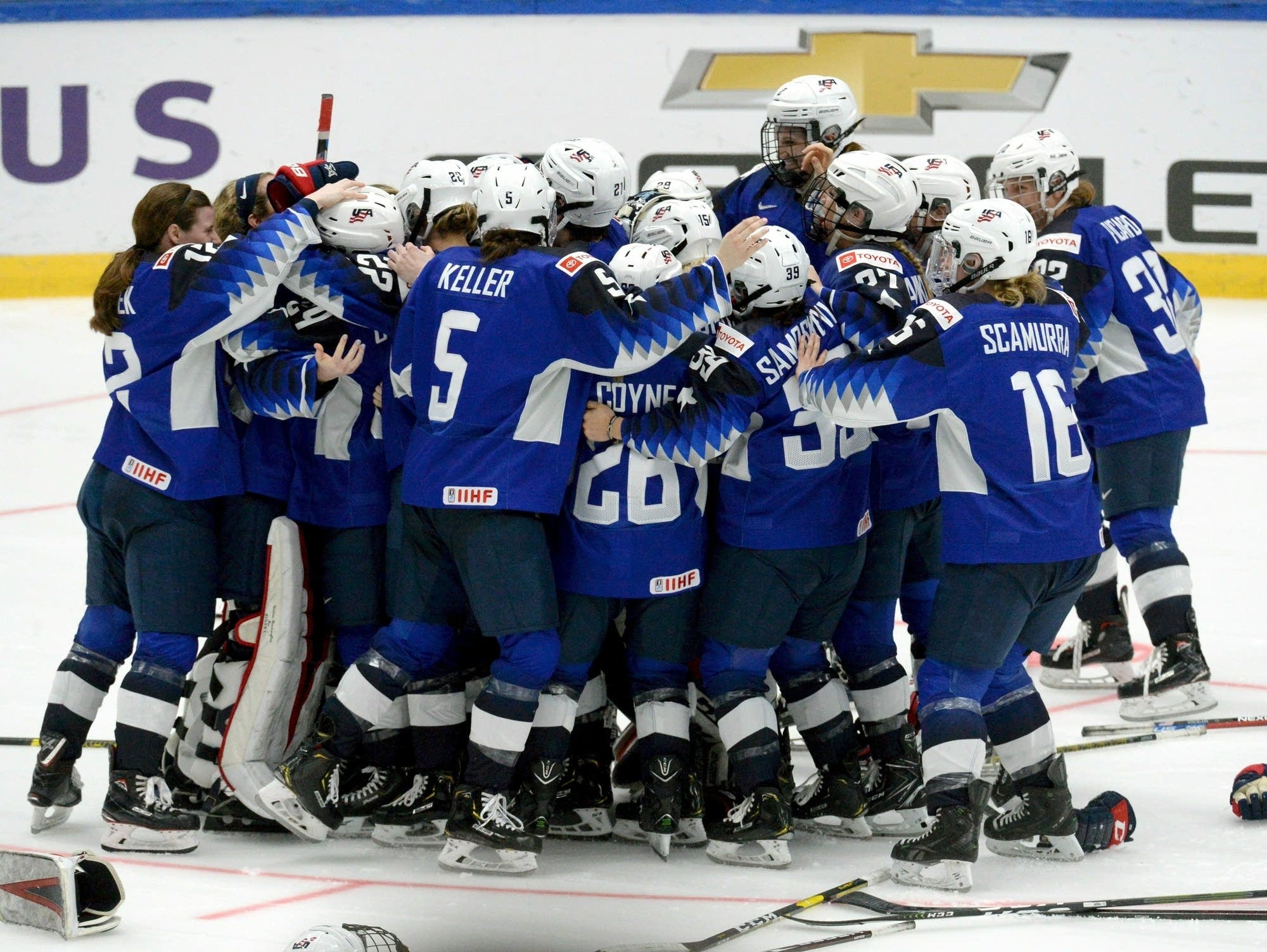 U.S. players celebrate their 2-1 shootout victory