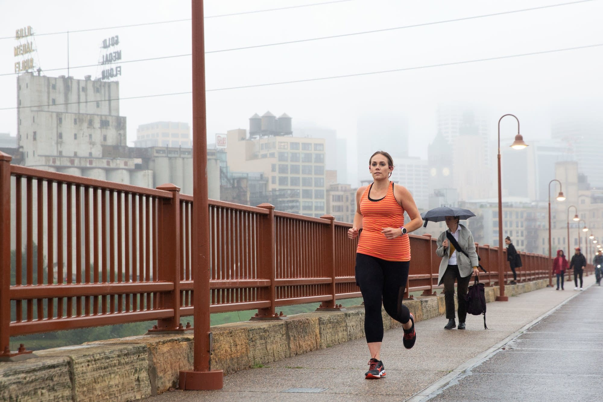 Angie Norvitch  trains for the New York City Marathon.