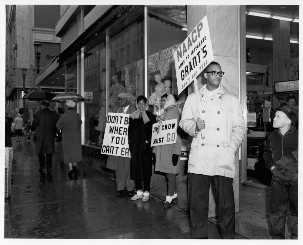 NAACP pickets