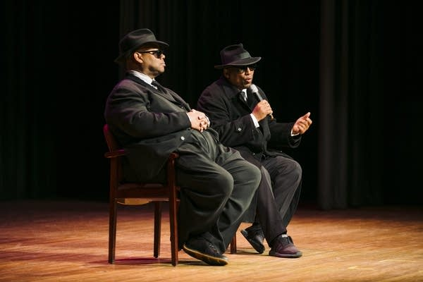 Jimmy Jam and Terry Lewis take questions from students at North High School