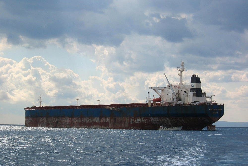 An international shipping vessel