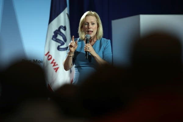 Democratic presidential candidate Kirsten Gillibrand says she doesn't regret calling for Al Franken's resignation from the Senate.
