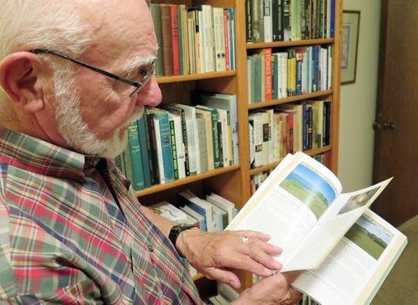 Bob Janssen showed off his new book.