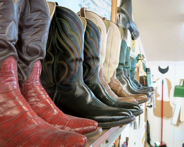Cowboy boots crafted by Craig Bartels.