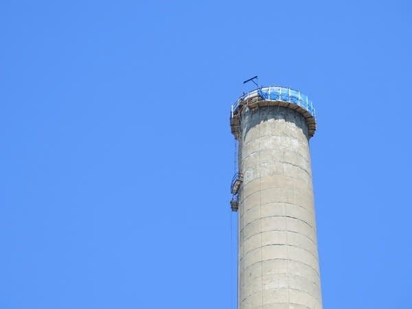 Black Dog power plant chimney set for dismantle