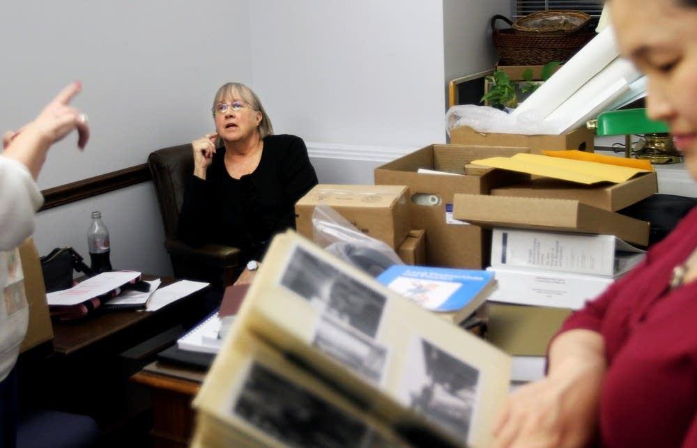 Senator Scheid in her new office
