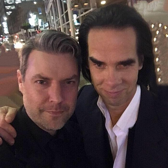Jake Rudh with Nick Cave