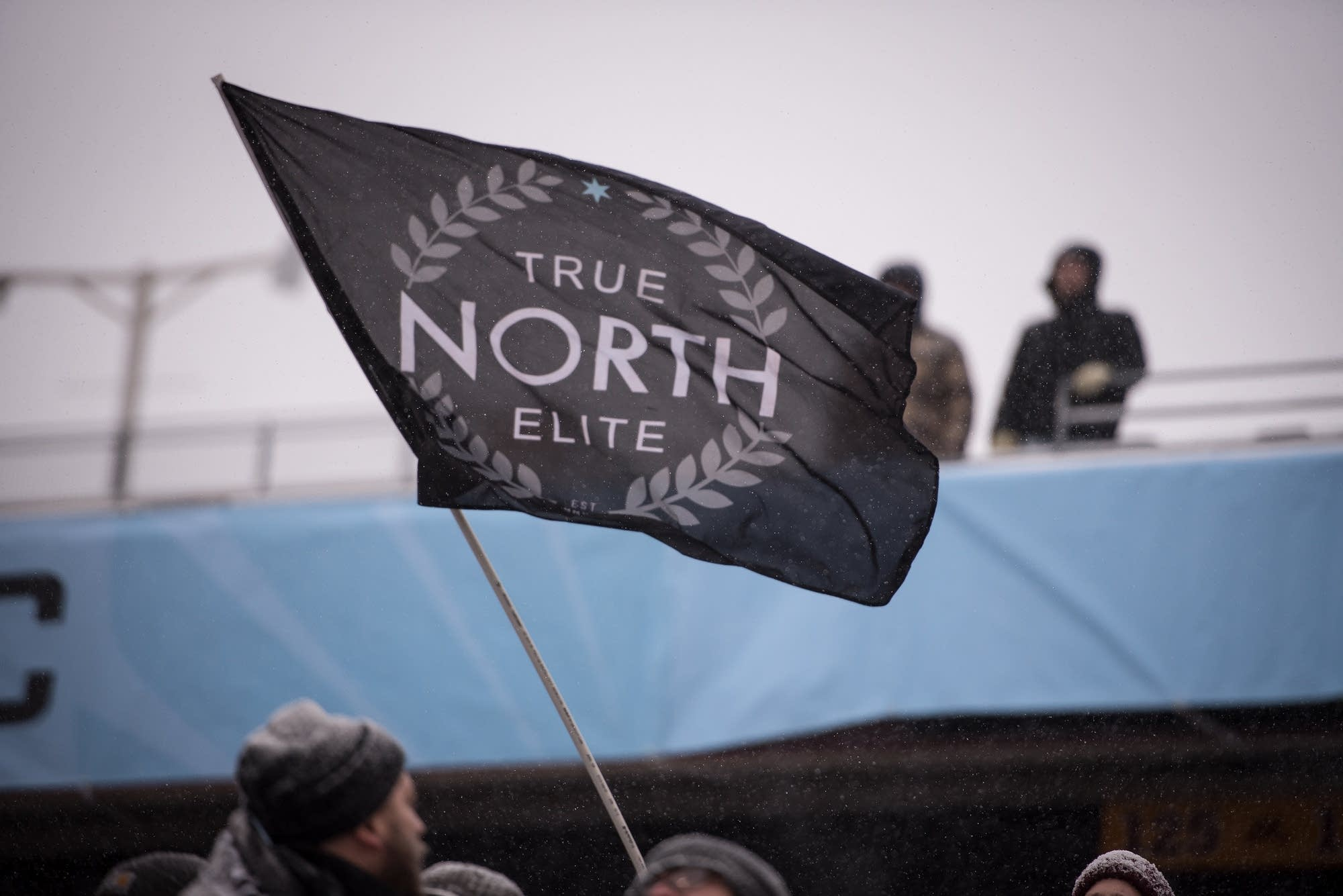 Fans brought 'True North' flags.