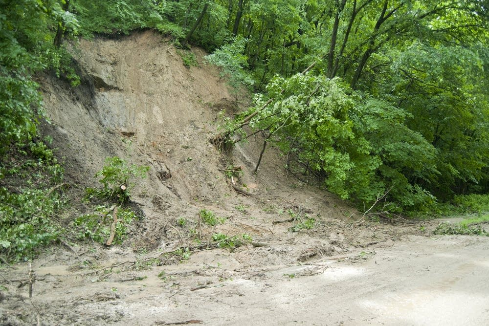 A mudslide on Hwy. 66 closed the road.