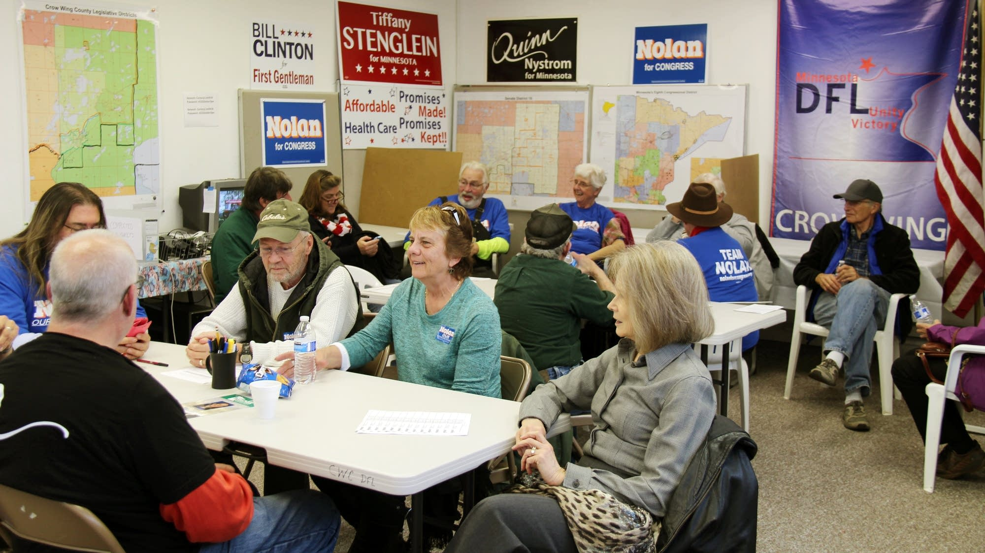 DFL volunteers in Brainerd.