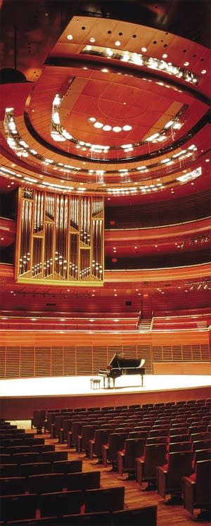 The Fred J. Cooper Memorial Pipe Organ (by Dobson) in Verizon Hall at Philadelphia's Kimmel Center.