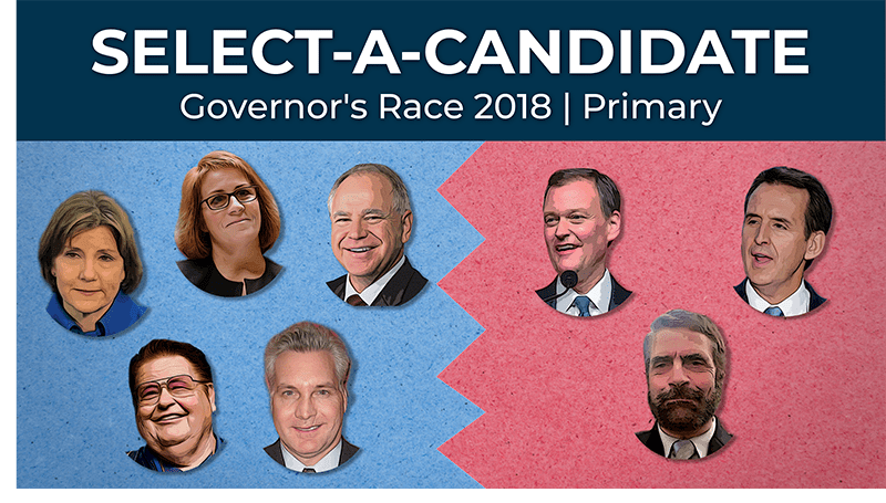 Select-A-Candidate: Governor's race 2018, Primary