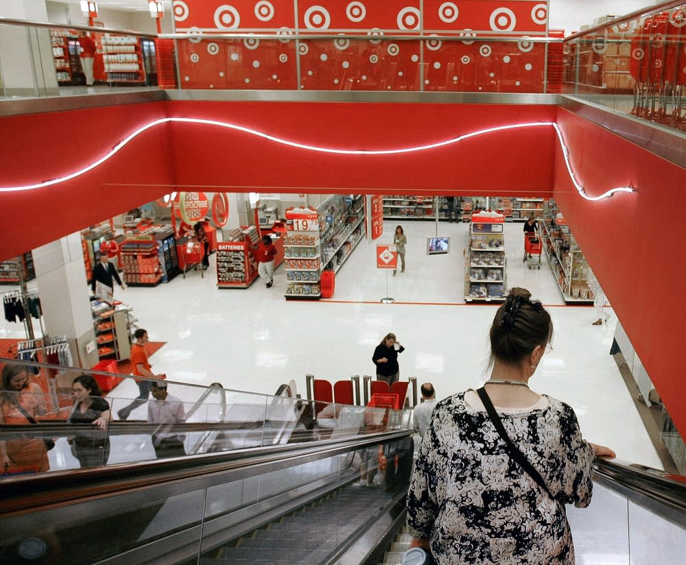 Shoppers at Target in Minneapolis
