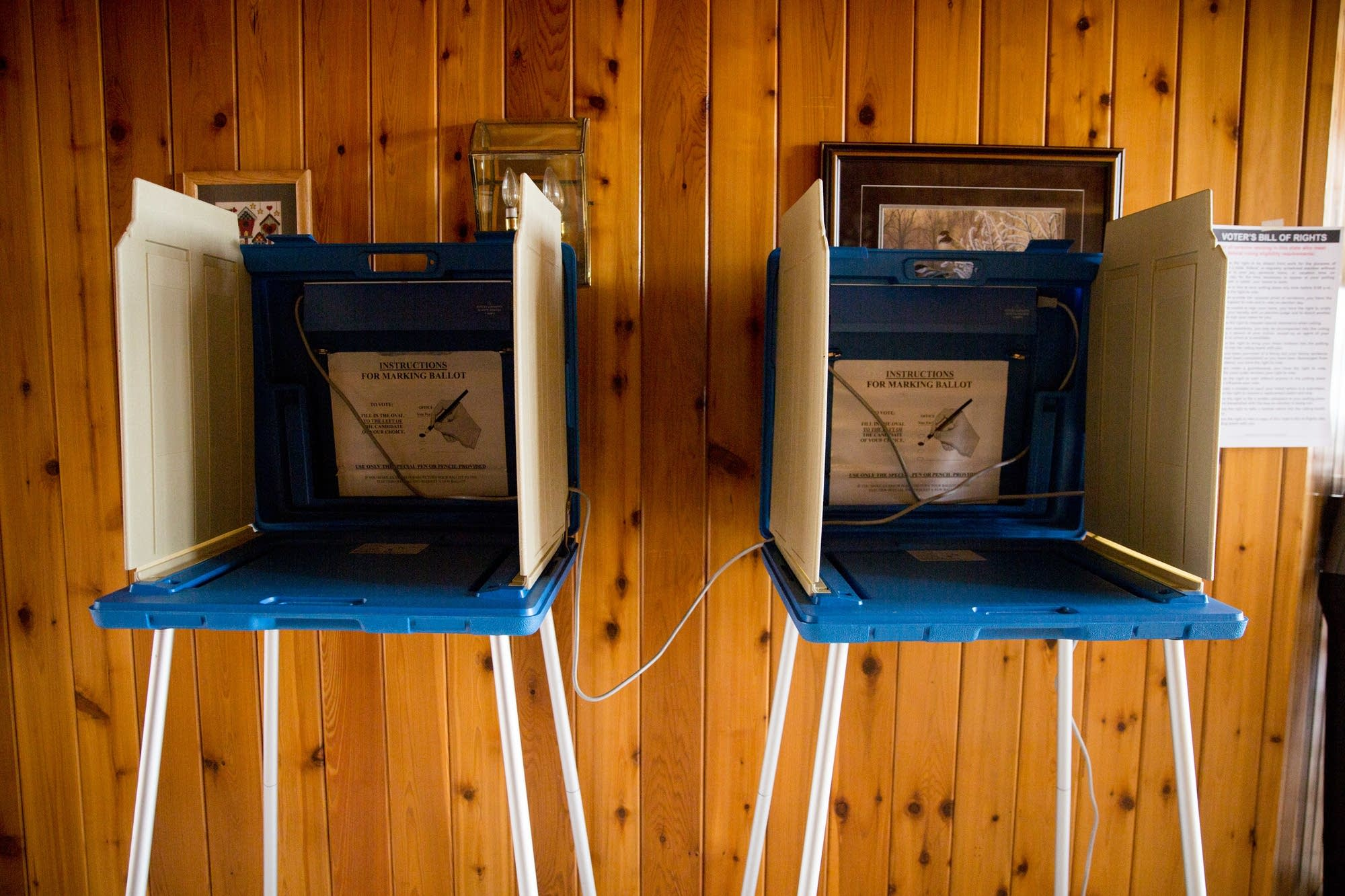 Voting booths in the LaBore's home.