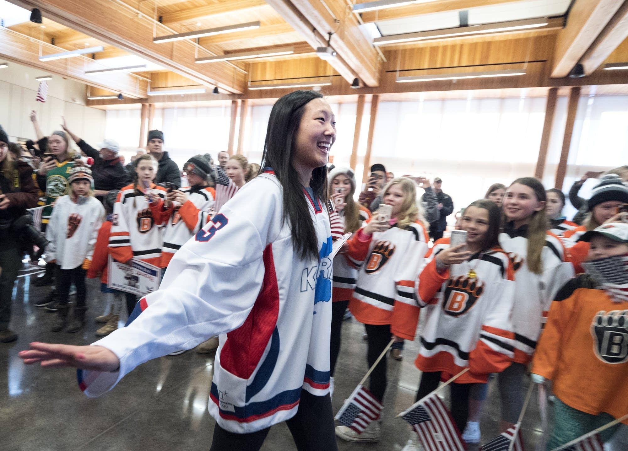 Marissa Brandt greets fans.