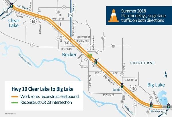 Highway 10 Clear Lake to Big Lake