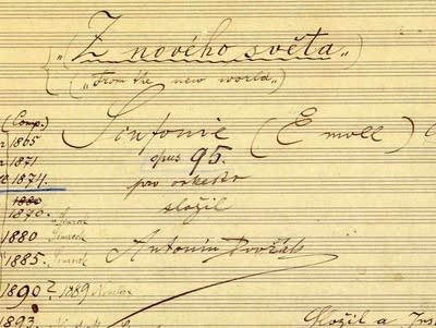 9c8ee2 20170505 the title page autograph score of dvo ninth symphony