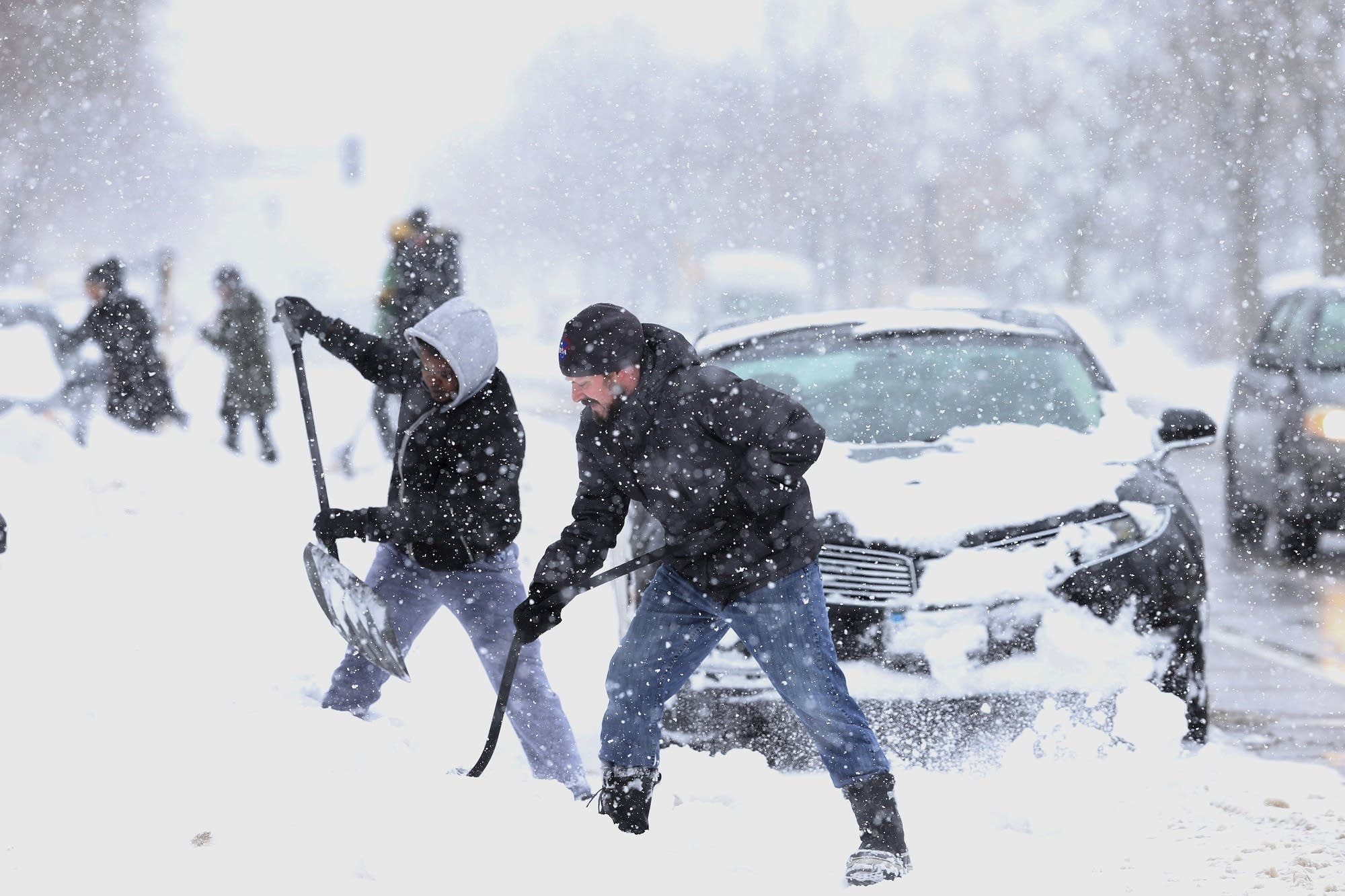 Yes, there is a connection between heavier snowfall and climate change.