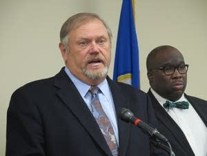 Sen. Majority Leader Tom Bakk and Sen. Jeff Hayden