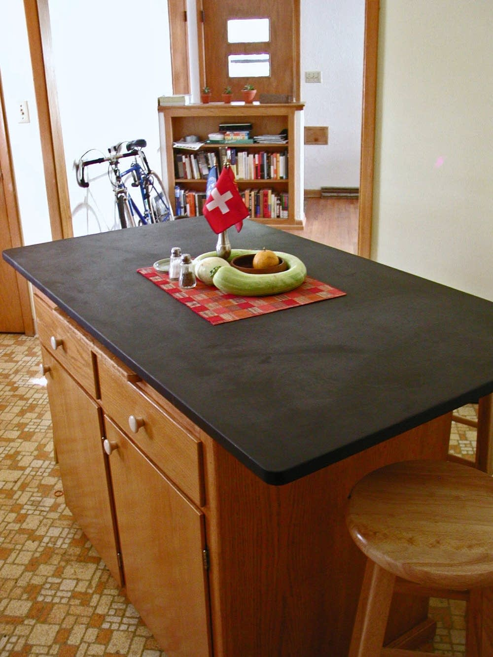 Recycled kitchen island
