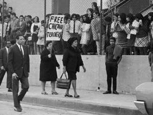 Protesters during the 1968 Theodore Roosevelt High School walkout.