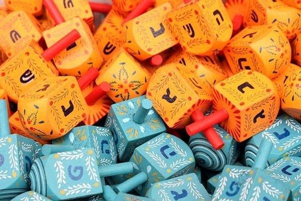 Colorful dreidels