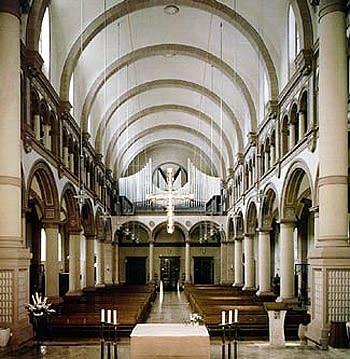 1948 Steinmeyer-1996 Göckel organ at Saint Franciskuskirche, Pforzheim,...
