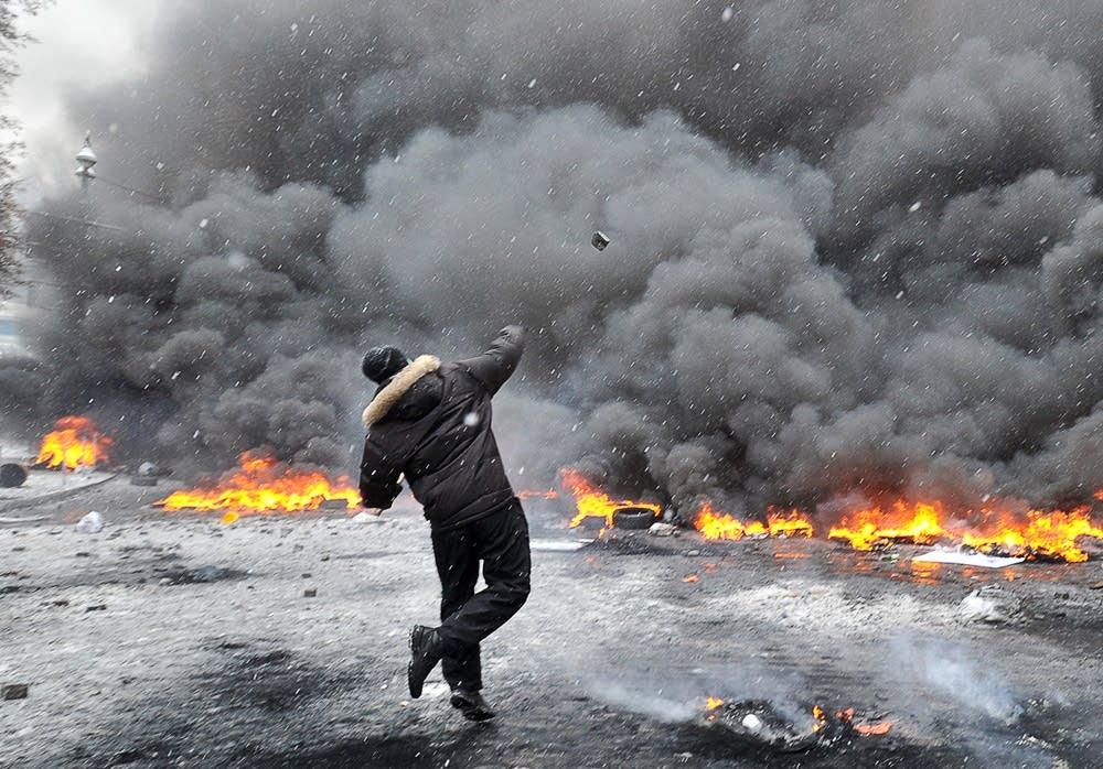 Ukraine protestor