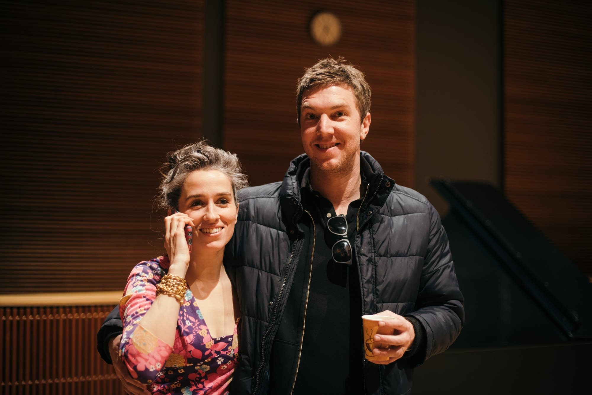 Hamilton Leithauser and his wife, Anna Stumpf, in The Current studio.