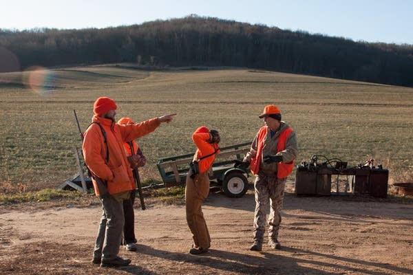 A group of hunters gather in southern Wisconsin.