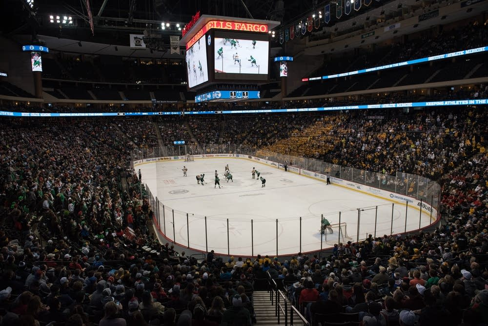 The tournament filled the Xcel Center Friday.