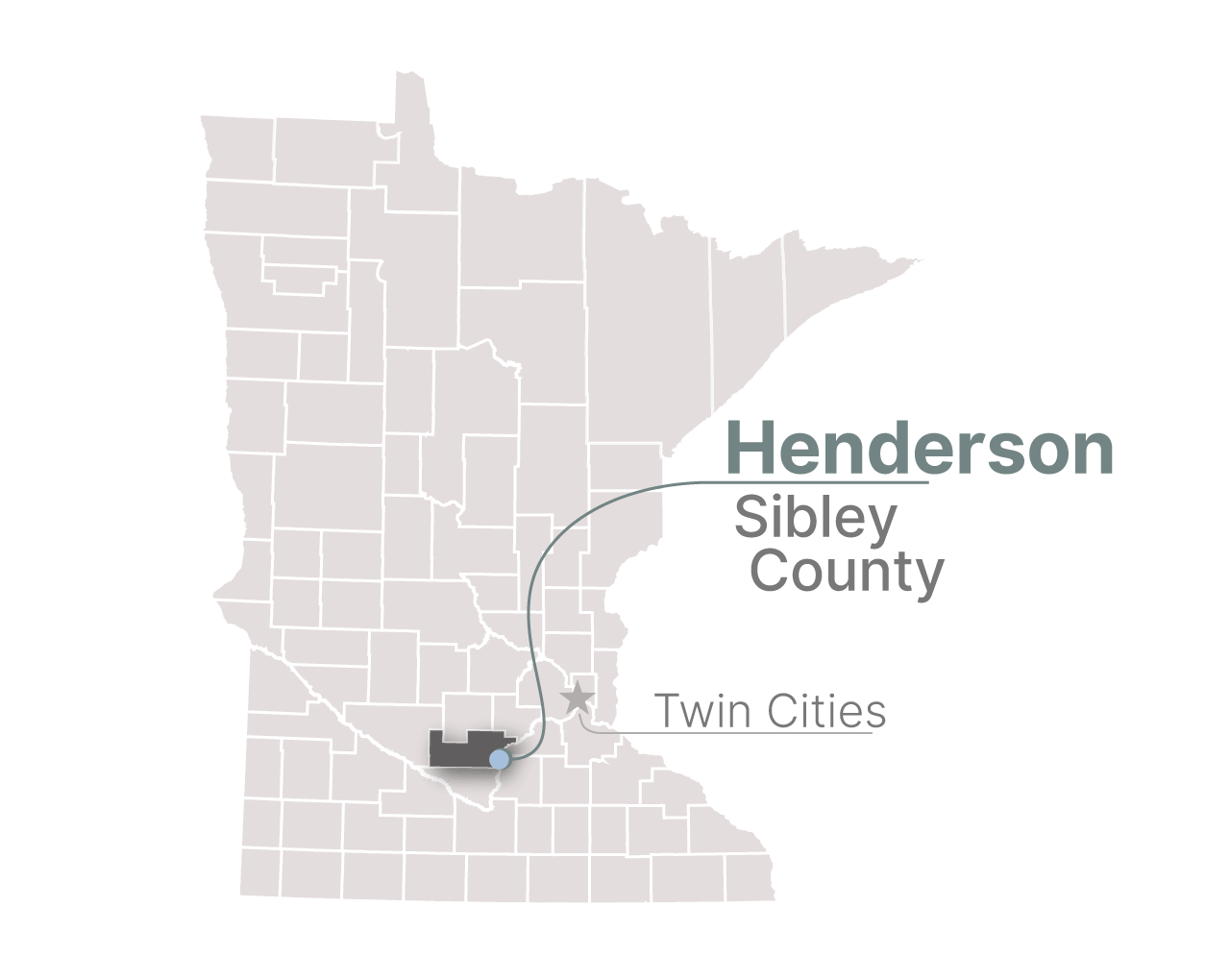 Henderson, Minn. in the southeast corner of Sibley County.