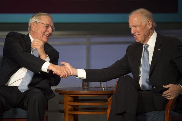 Walter Mondale, left, and Joe Biden