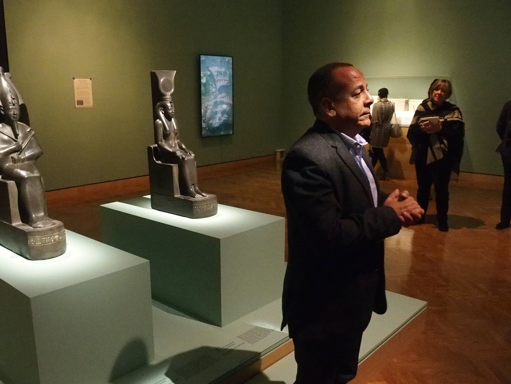 "Mostafa Waziry describes the the objects in ""Egypt's Sunken Cities."""