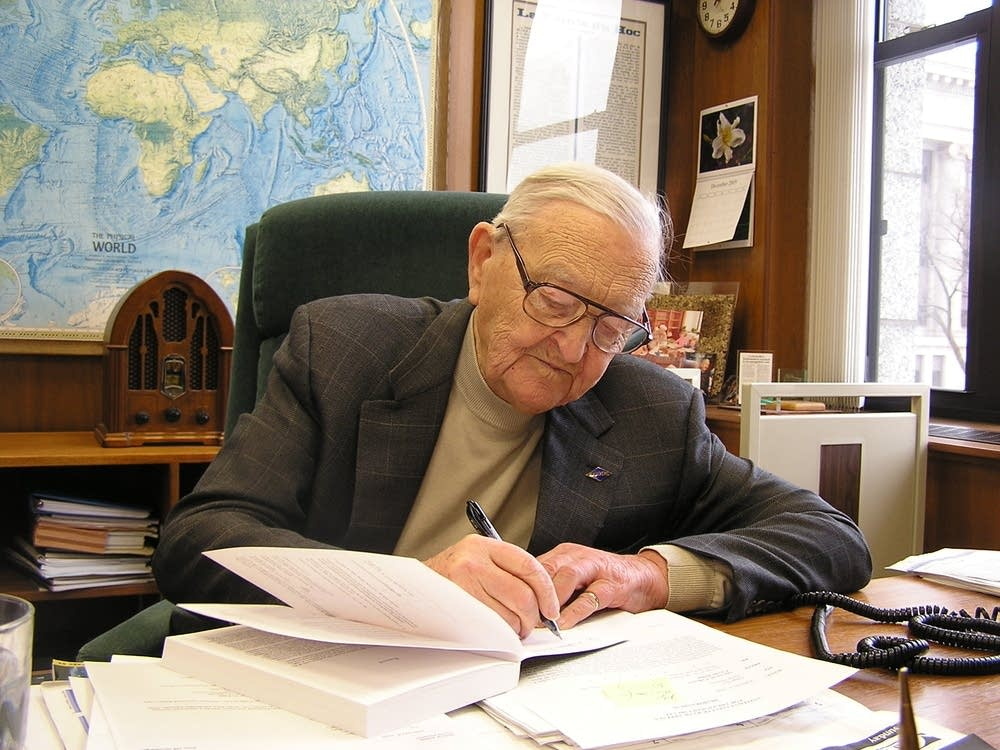 Judge Heaney at work