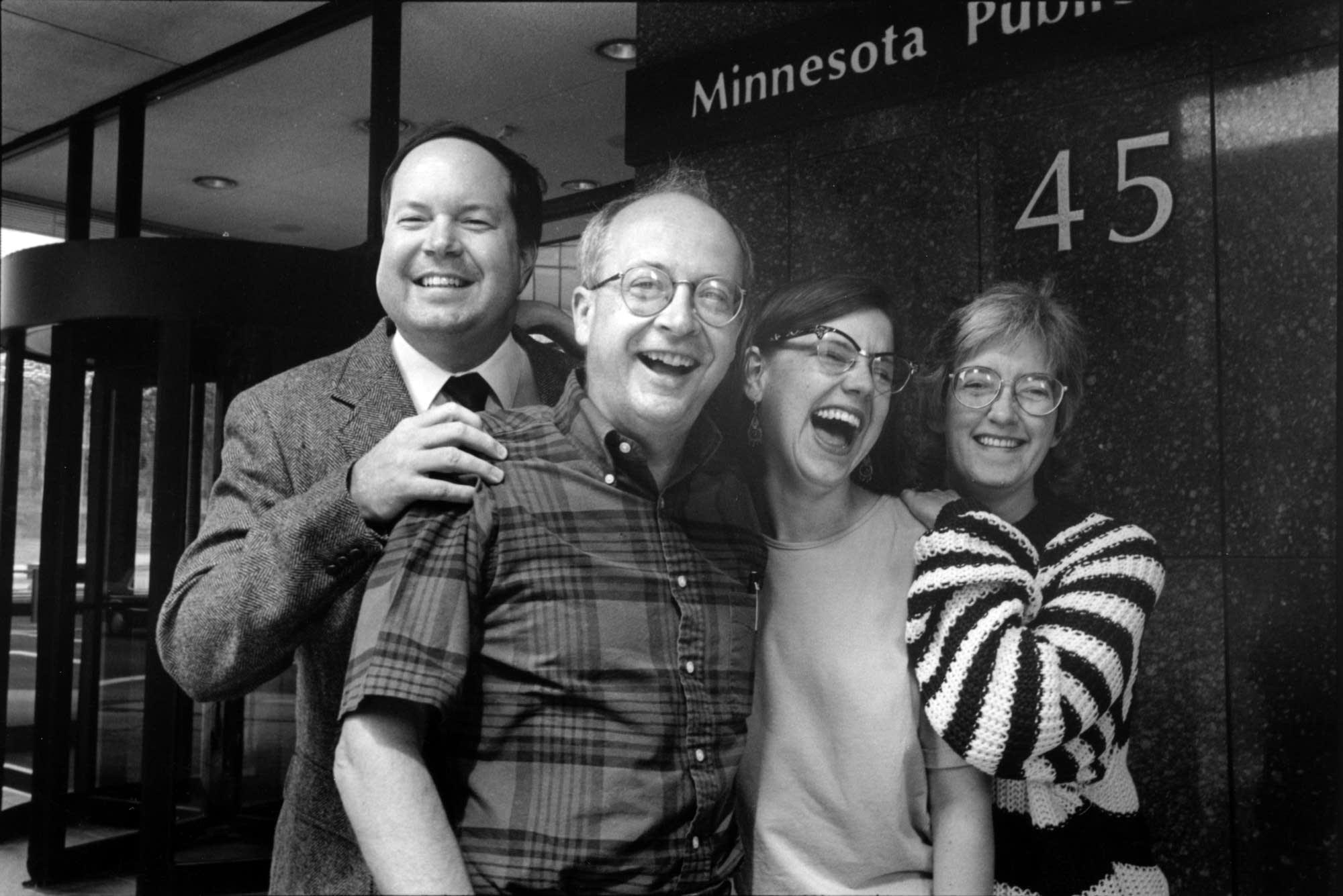 From left, Greg Magnuson, Bob Potter, Steph Curtis and Patti Rai Rudolf