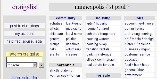 Craigslist women seeking men in mn