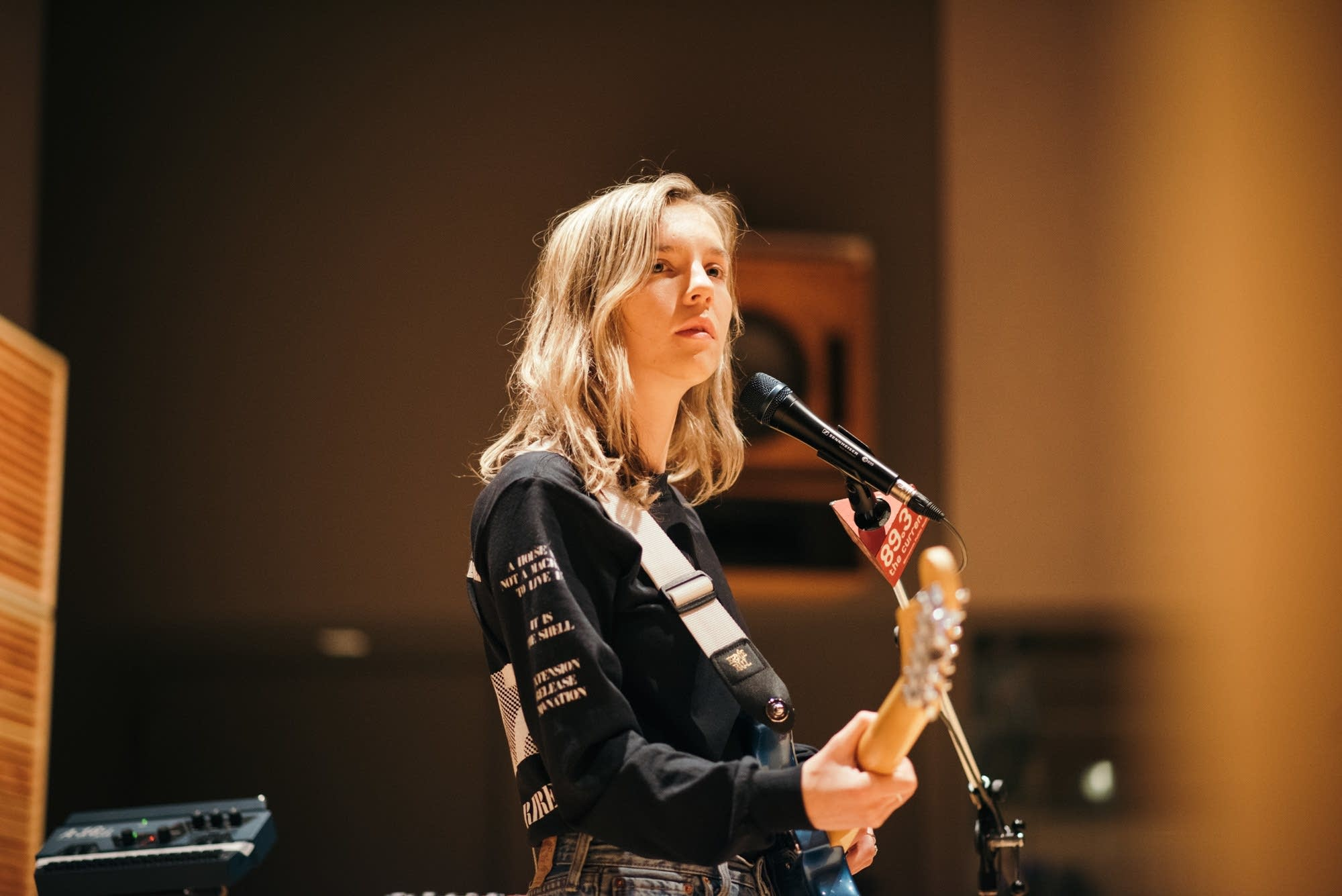 Amber Bain of The Japanese House in studio