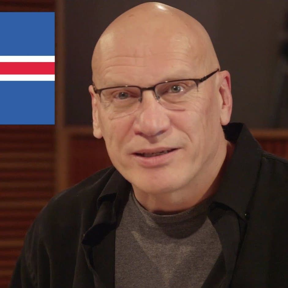 Mark Wheat with Icelandic flag graphic