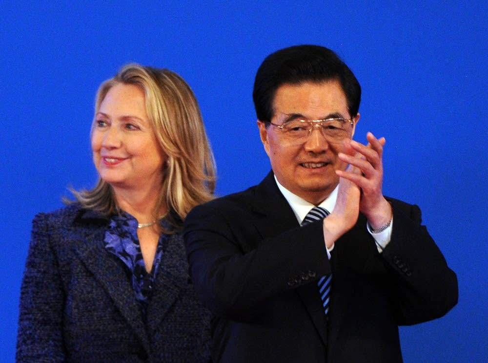Hillary Clinton and Hu Jintao