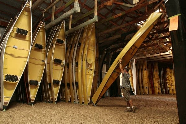 Storing canoes