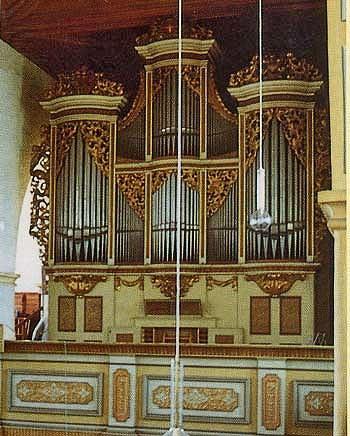 1721 Silbermann organ at Saint George's Church, Rotha, Germany