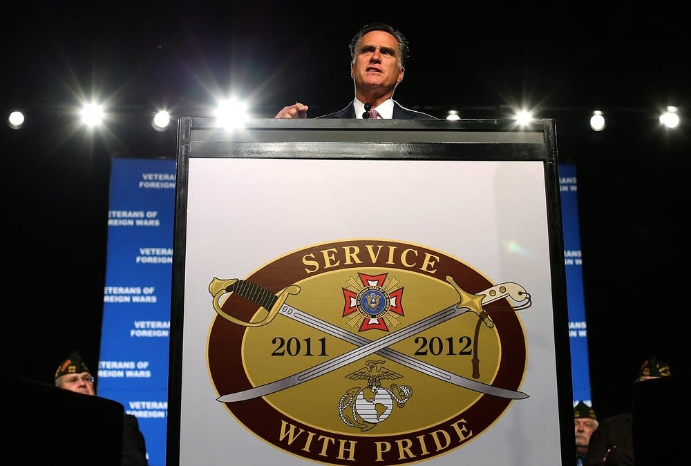 Romney speaks at the VFW convention