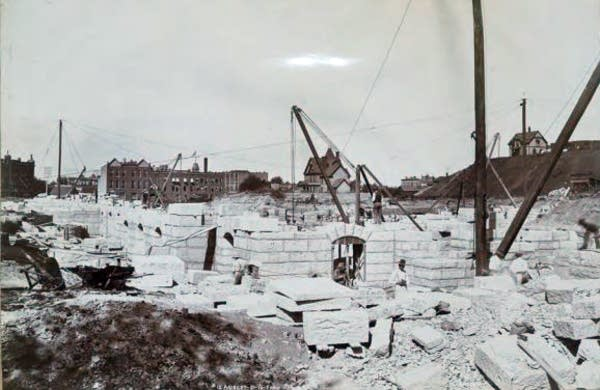 Capitol construction on Aug. 31, 1896